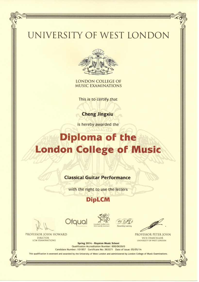A proud moment for Cheng Jingxiu, DipLCM!