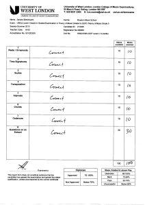 Sandra Brechbuehl Summer 2015 LCM Grade 5 theory result