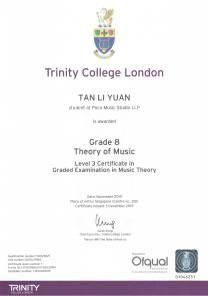 Tan Li Yuan Trinity Theory Grade 8 Nov 2019